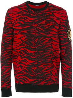 tiger print sweatshirt Balmain