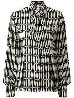 блузка с мозаичным принтом и бантом  Lanvin
