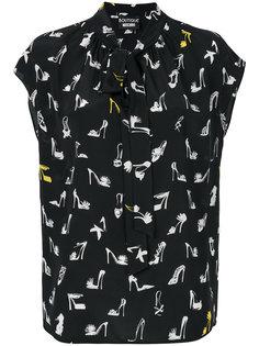 блузка с принтом туфель Boutique Moschino