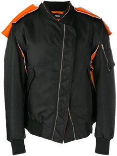 contrast detail bomber jacket Moohong