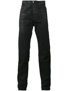 джинсы кроя слим с вощеным покрытием Saint Laurent