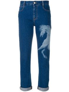 джинсы с принтом лошади  Stella McCartney