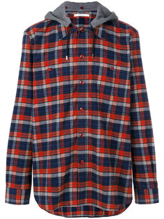 рубашка в клетку с капюшоном Givenchy
