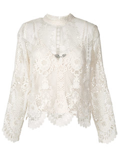 блузка с длинными рукавами и вышивкой макраме Twin-Set