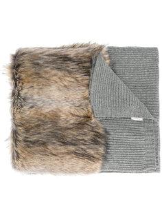 шарф с меховой отделкой Stella McCartney