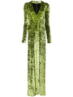 бархатное платье в пол Galvan