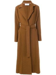 длинное пальто с ремнем Harris Wharf London