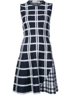 расклешенное платье в клетку Victoria Beckham