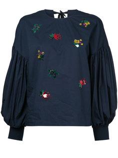 блузка с буффами на рукавах Muveil
