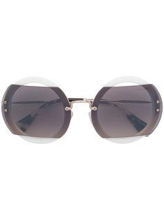 солнцезащитные очки с контрастными панелями Miu Miu Eyewear