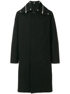 пальто с молнией на воротнике Givenchy