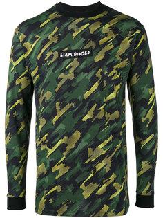 Camo print sweatshirt Liam Hodges