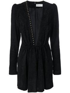 платье мини с глубоким вырезом  Saint Laurent