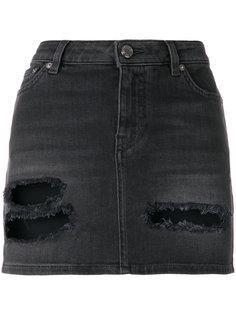 мини-юбка с эффектом потертости Givenchy