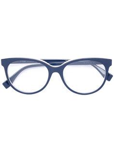 очки с овальной оправой Fendi Eyewear