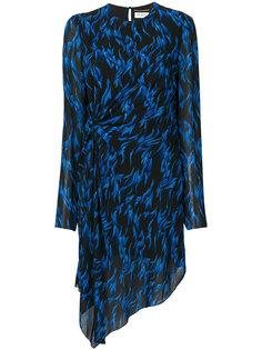 асимметричное платье с принтом  Saint Laurent