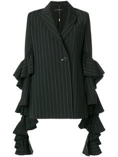 полосатый пиджак с рюшами Ellery