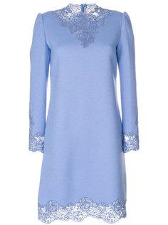 платье с высоким воротом и кружевом  Ermanno Scervino