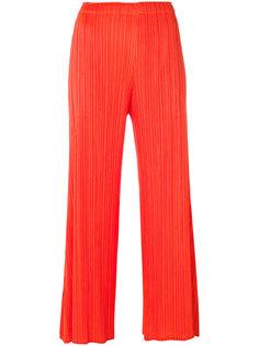 укороченные брюки со складками  Pleats Please By Issey Miyake