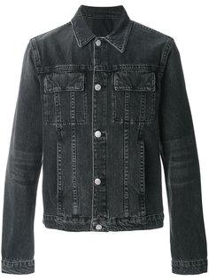 джинсовая куртка с накладными карманами Helmut Lang