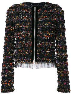 куртка с рюшами на молнии  Givenchy