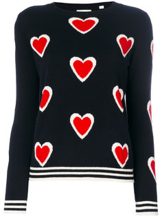кашемировый свитер с сердечками  Chinti And Parker