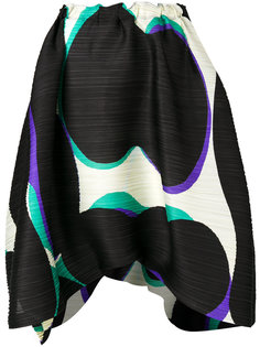асимметричная юбка с узором  Pleats Please By Issey Miyake