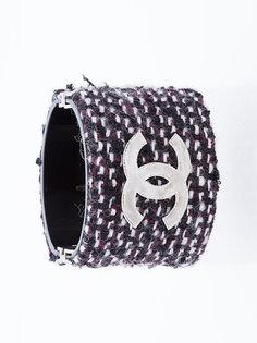 твидовый браслет с логотипом Chanel Vintage