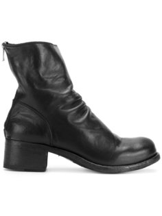 ruched block heel boots Officine Creative