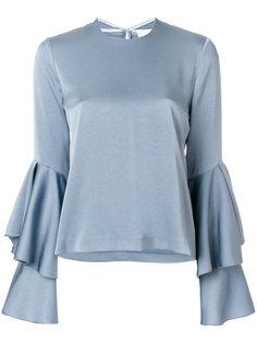 блузка с многослойными рукавами Galvan