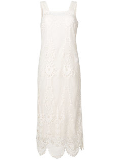 платье шифт с вышивкой макраме Twin-Set