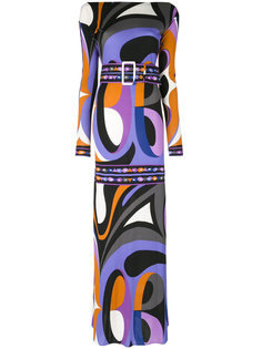 вечернее платье с психоделическим рисунком Emilio Pucci