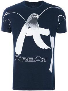 футболка с принтом орла Armani Jeans