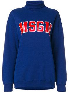 свитер с логотипом  MSGM