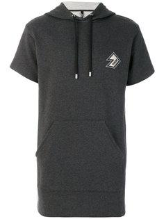 shortsleeved drawstring hoodie Versus