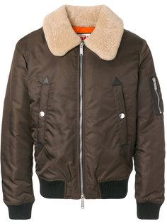 куртка-бомбер с меховым воротником Dsquared2
