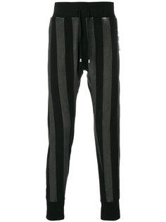 striped slim fit pants Unconditional
