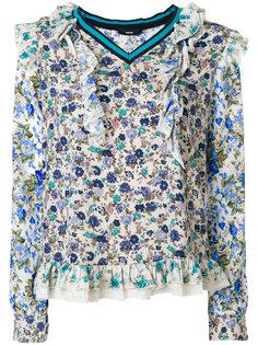 блузка с цветочным принтом  Diesel