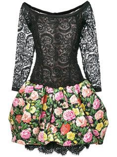 кружевное платье с цветочным принтом Yves Saint Laurent Vintage