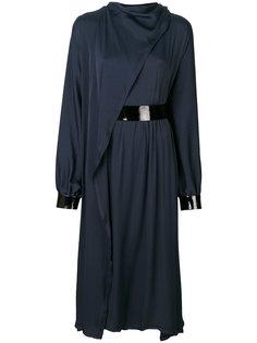 драпированное платье с поясом Maison Margiela