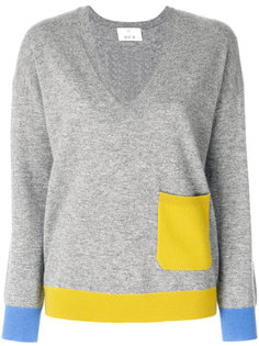 contrast pocket jumper Allude