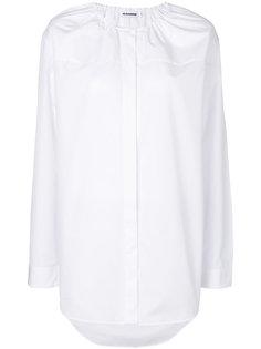 рубашка с присборенным круглым вырезом Jil Sander