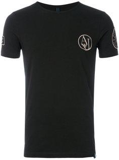 футболка с вышитым логотипом Armani Jeans
