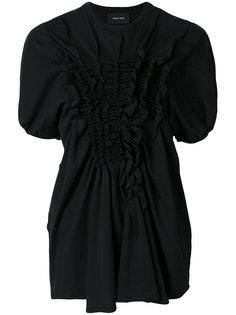 блузка с оборкой  Simone Rocha