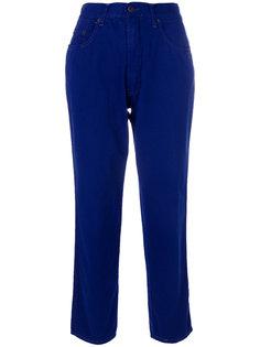 укороченные джинсы с высокой талией Moschino Vintage