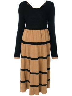 трикотажное платье с полосками  Twin-Set