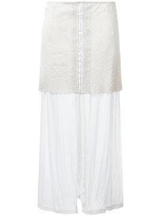 перфорированная многослойная юбка Lost & Found Ria Dunn