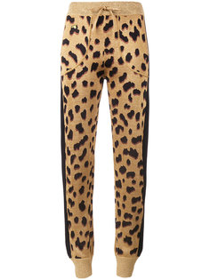 спортивные брюки с леопардовым принтом  Bella Freud