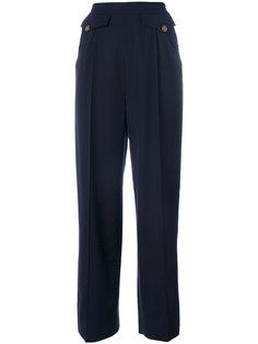 брюки со складками Chanel Vintage