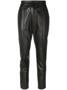 кожаные брюки Joseph